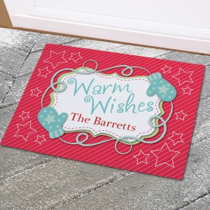 Personalized Holiday Wishes Doormat