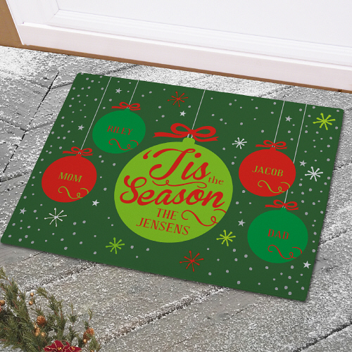 Christmas Welcome Doormat | Personalized Christmas Doormats