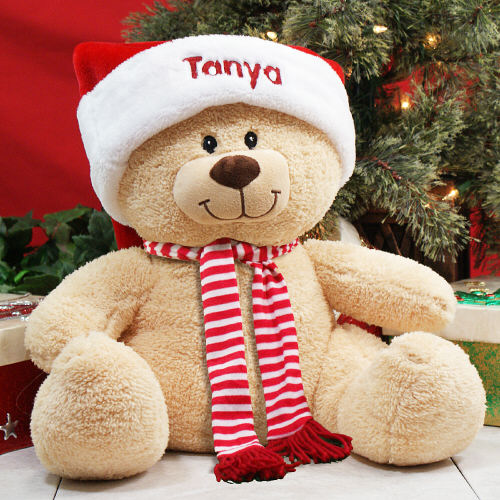 Embroidered Sherman Holiday Teddy Bear 836983B17