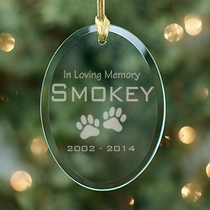 Pet Memorial Glass Ornament