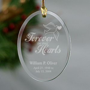 Engraved Forever In Our Hearts Memorial Ornament 855774