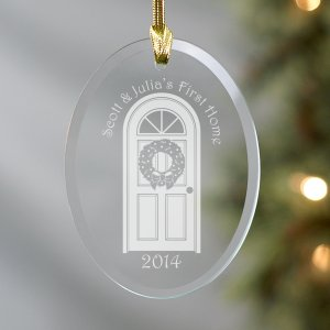 Our First Home Glass Ornament