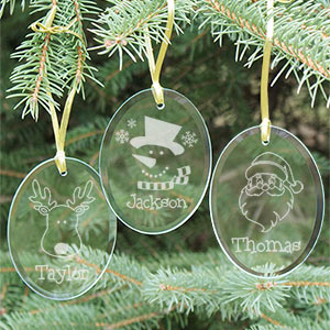 Engraved Glass Christmas Ornament 880284