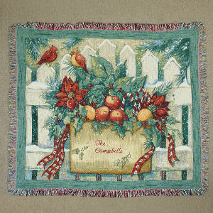 Personalized Winter Scene Tapestry