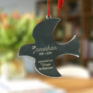 Engraved Memorial Dove Ornament