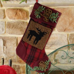 Country Deer Christmas Stocking