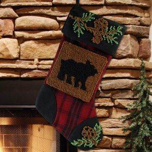 Country Bear Christmas Stocking