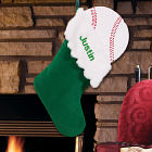 Embroidered Sports Christmas Stocking - Baseball Design