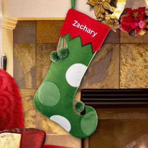 Whimsical Jester Wool Christmas Stocking | Embroidered Christmas Stockings
