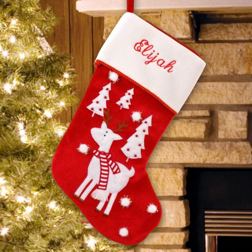 Reindeer Christmas Stocking | Unique Christmas Stockings