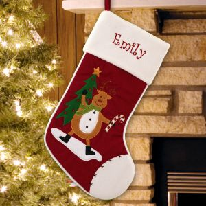Embroidered Classic Reindeer Stocking | Christmas Stockings
