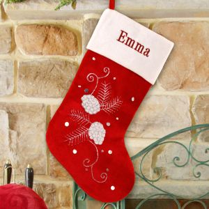 Personalized Pine Cone Stocking