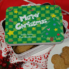 Personalized Merry Christmas Cookie Tin U173722