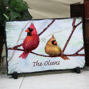 Personalized Cardinals Stone Keepsake