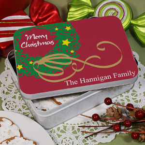 Personalized Merry Christmas Tin