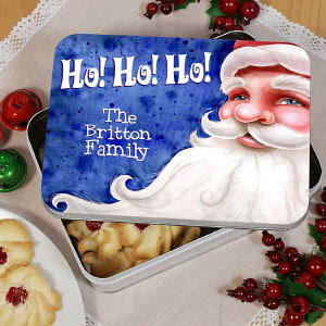 Personalized Santa Cookie Tin