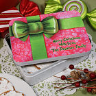 Personalized Christmas Gift Cookie Tin U381322