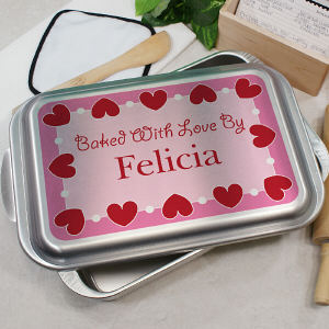 Personalized Baked With Cake Pan