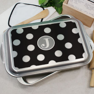 Personalized Polka Dot Cake Pan