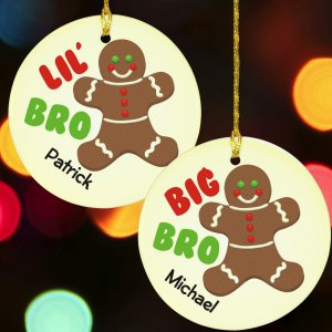 Brother Gingerbread Personalized Ornament