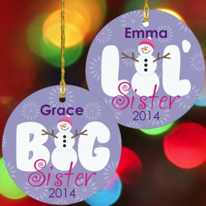 Sister Ceramic Christmas Ornament