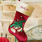 Embroidered Christmas Bells Stocking