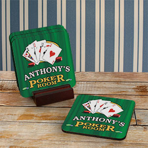 Personalized Poker Coasters