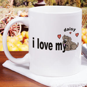 Love My Dog Ceramic Coffee Mug