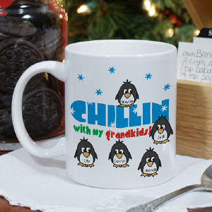 Chillin' Penguin Personalized Winter Coffee Mug