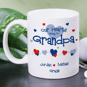 Our Hearts Belong to Grandpa Coffee Mug