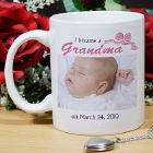I Became A...New Baby Girl Personalized Photo Coffee Mug