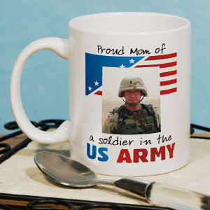 American Pride Personalized Photo Coffee Mug