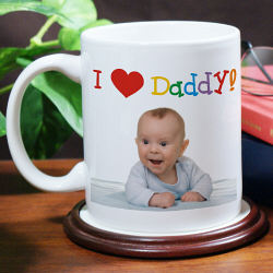 I Love You Personalized Photo Coffee Mug