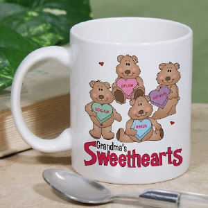Candy Sweethearts Bears Valentine Coffee Mug