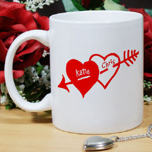 Two Hearts Valentine Coffee Mug