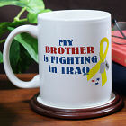 I Know Someone Fighting In Iraq Personalized Military Ceramic Coffee Mug