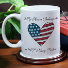 My American Heart Personalized Military Ceramic Coffee Mug