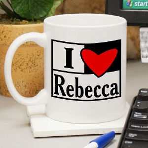 I Love You Personalized Mug