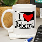 I Love You Personalized Coffee Mug
