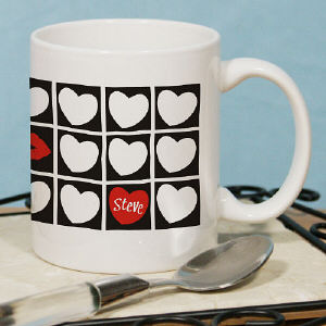 Kissing Hearts Valentine Coffee Mug