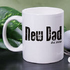 Personalized New Dad Coffee Mug