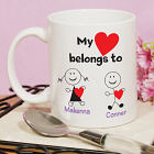 Personalized Belongs To Heart Coffee Mug