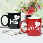 Personalized His and Hers Coffee Mug