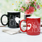 Personalized You and Me Puzzle Piece Coffee Mug