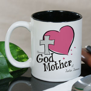 Personalized Godmother Of ...Two-Tone Mug