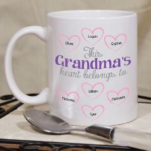 Personalized Heart Belongs To Coffee Mug