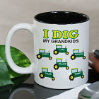 Personalized I Dig My Kids Coffee Mug