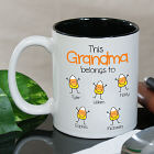 Personalized Halloween Candy Corn Coffee Mug