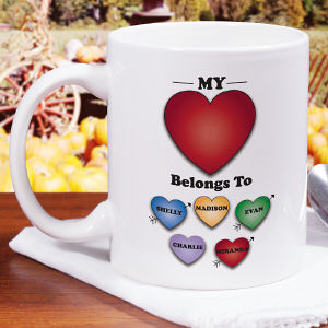 Personalized Heart Belongs To Mug