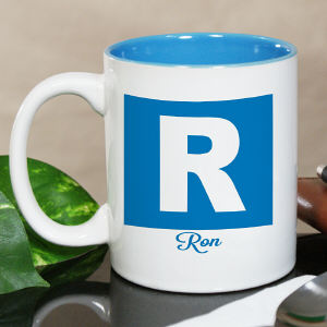 Personalized Initial and Name Mug
